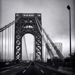 Architecture Photo, NYC photos, George Washington Bridge, black &amp; white, 8x10&amp;quot; print