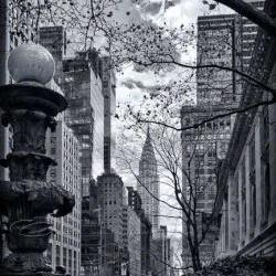 New York City Architecture Photo black &amp; white Chrysler Building 8x12&amp;quot; print