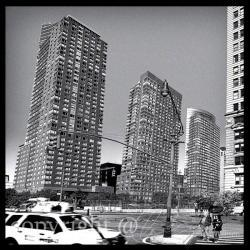 Architecture Photo, NYC photos, black &white, skyscrapers 10x10""