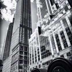 New York City Architecture photo black &amp; white Empire State Bldg skyscrapers 8x12