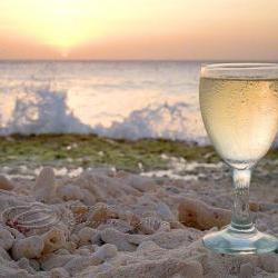 Beach Photo ocean wine home decor sunset print 8x10&amp;quot;