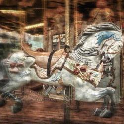 "Home Decor for children photo art vintage horse carousel 8x10"" print"