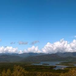 Panoramic Photo ocean panorama photo Hinchinbrook Island Australia 30x7.5 print